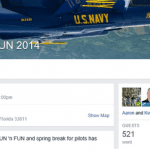 Above is an example of a Facebook Event created for the 40th anniversary of SUN 'n FUN.