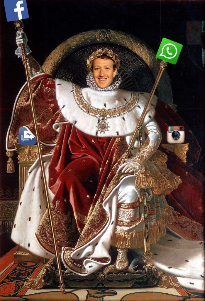Zuckerberg on Throne
